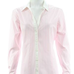 BROOKS BROTHERS PINK & WHITE STRIPED SHIRT 16